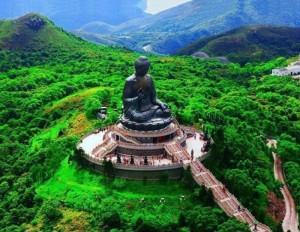 Lucht foto Tian Tan Buddha